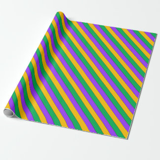 Mardi Gras Stripes Pattern Purple Green Yellow