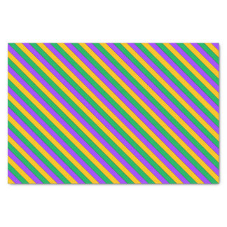 Mardi Gras Stripes Pattern Purple Green Yellow Tissue Paper