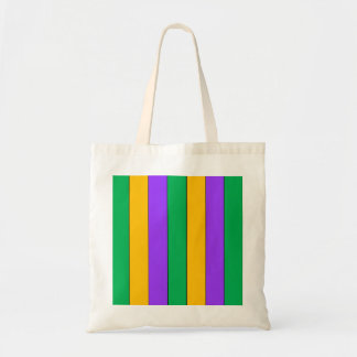Mardi Gras Stripes Pattern Purple Green Yellow Tote Bag