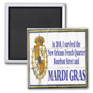 MArdi Gras Survivor Tile Mural Magnet