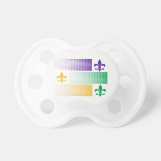 Mardi Gras themed baby pacifier