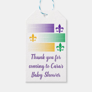 Mardi Gras themed gift tag