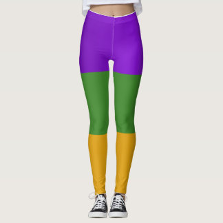 Mardi Gras themed stretch pants