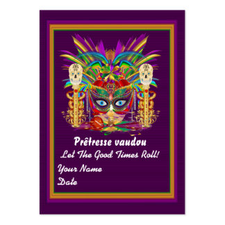 Mardi Gras Throw Card Please View Notes Large Business Cards (Pack Of 100)