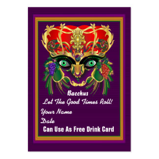 Mardi Gras Throw Card See notes Business Card Template