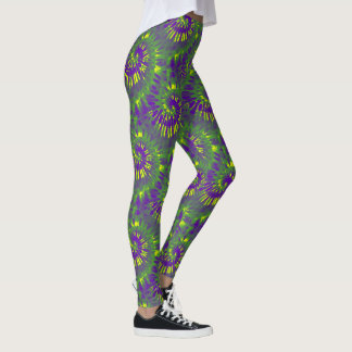 Mardi Gras Tie Dye Leggings