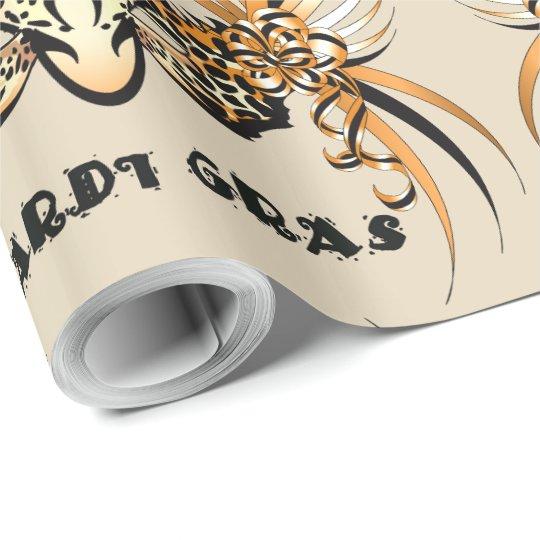 "MARDI GRAS TIGER 30"" x 60'  CARTOON WrappingPaper2"