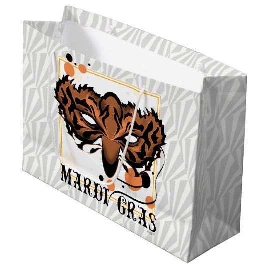 MARDI GRAS TIGER GIFT BAG LARGE