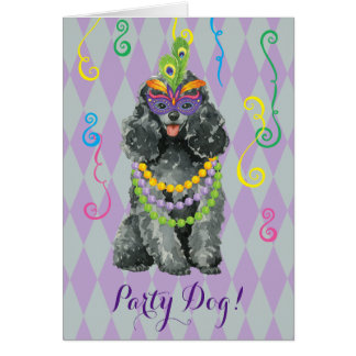 Mardi Gras Toy Poodle Card