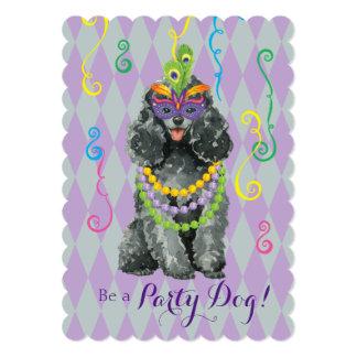 Mardi Gras Toy Poodle Card