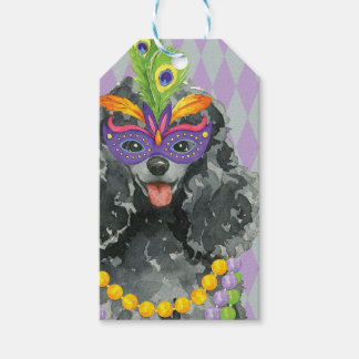 Mardi Gras Toy Poodle Gift Tags