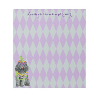Mardi Gras Toy Poodle Notepad