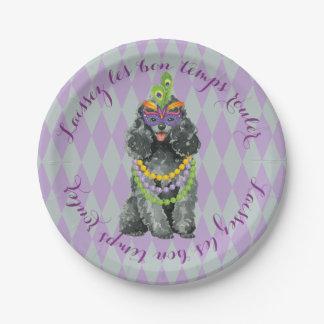 Mardi Gras Toy Poodle Paper Plate