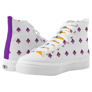 Mardi Gras Tri-colored Fleur de Lis High Tops