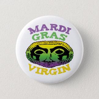 Mardi Gras Virgin 2 Inch Round Button