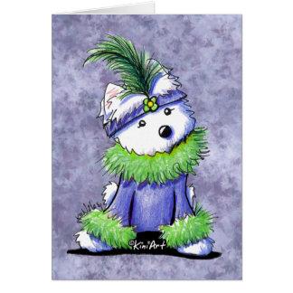 Mardi Gras Westie Card