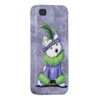 Mardi Gras Westie iPhone 4/4S Cases