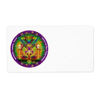 Mardi Gras Witch Doctor-Skull V-1 Shipping Label