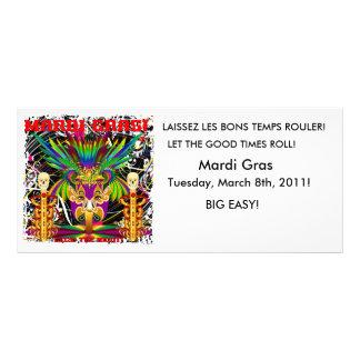 Mardi Gras Witch Doctor-Skull V-3-T Full Color Rack Card
