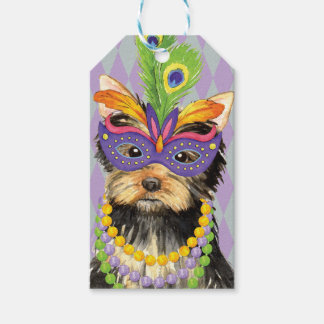 Mardi Gras Yorkie Pack Of Gift Tags