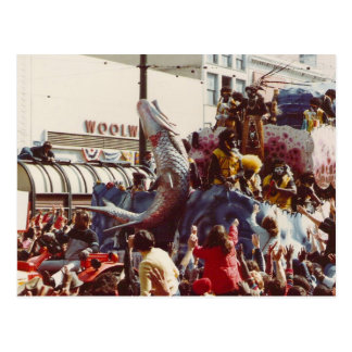 Mardi Gras Zulu Float Postcard