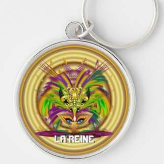 Mardi Queen View Notes Please Silver-Colored Round Keychain
