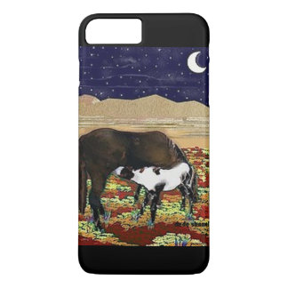 Mare and Colt Under the Stars by DeDe Shamel iPhone 7 Plus Case