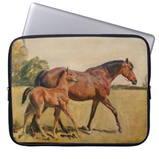 Mare and Foal by Munnings Laptop Sleeve
