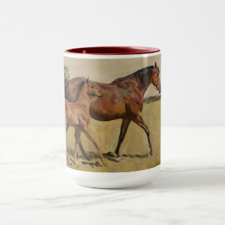 Mare and Foal by Munnings Mug