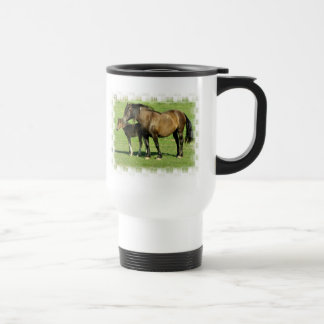 Mare and Foal Plastic Travel Mug