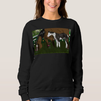 Mare and Paint Foal Horses Sweatshirt