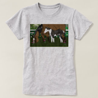 Mare and Paint Foal Horses T-Shirt
