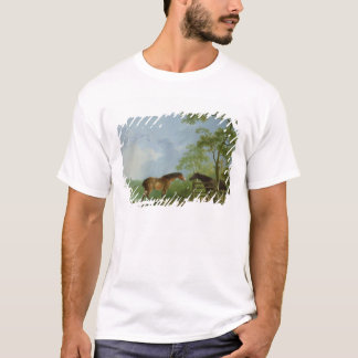 Mare and Stallion in a Landscape T-Shirt