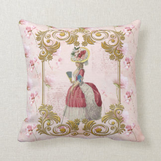 Mare Antoinette Floral Pillow pink cushion