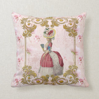 Mare Antoinette Floral Pillow pink cushion C