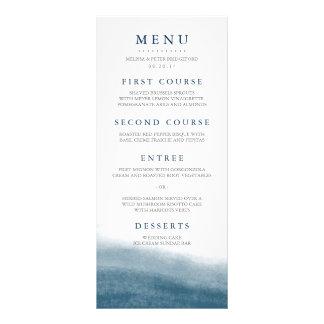 Marées d'océan épousant le menu double carte personnalisée