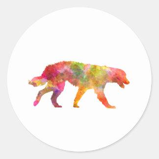 Maremma Abruzzes Sheepdog in watercolor Classic Round Sticker