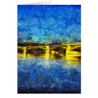 Margaret Bridge Budapest Van Gogh Card