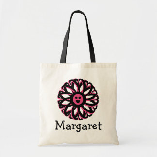 Margaret Happy Flower Personalized Tote Bag