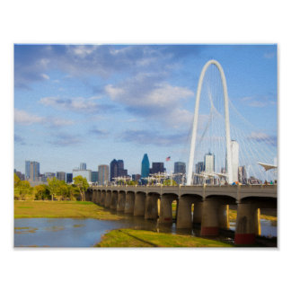 Margaret Hunt Bridge, Dallas, Texas Poster