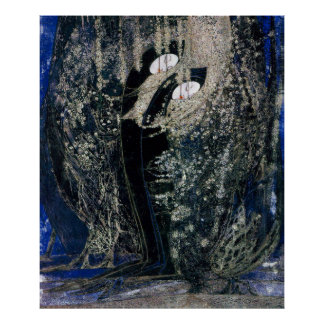 Margaret Macdonald Black Thorns Poster
