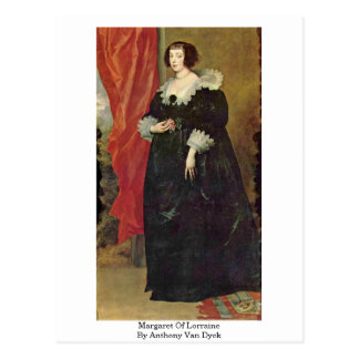 Margaret Of Lorraine By Anthony Van Dyck Postcard