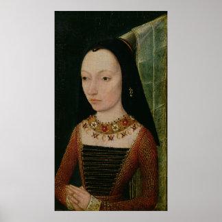 Margaret of York  Duchess of Burgundy, c.1477 Poster