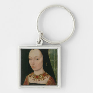 Margaret of York  Duchess of Burgundy, c.1477 Silver-Colored Square Keychain