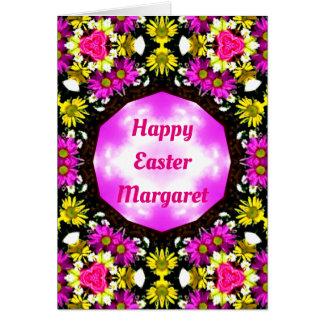 MARGARET ~ Personalised Easter card pattern ~