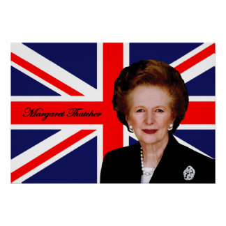 Margaret Thatcher - British Flag Poster