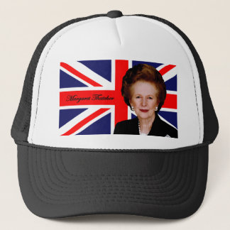 Margaret Thatcher - British Flag Trucker Hat