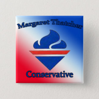 Margaret Thatcher Conservative 2 Inch Square Button