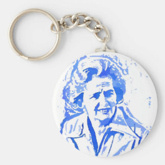Margaret Thatcher Pop Art Portrait Keychain