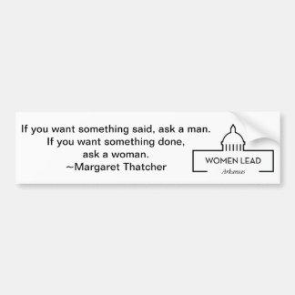 Margaret Thatcher Quote Bumper Sticker